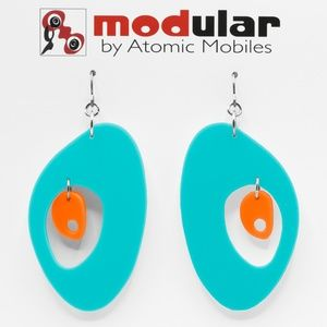 Modernist Earrings in Palm Springs Colors MOD HIP